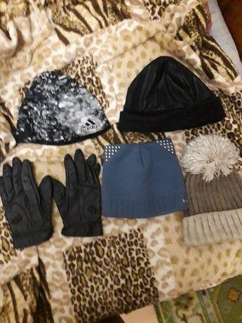 Продам шапки с перчатками