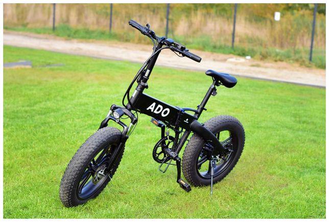 Rower elektryczny ADO A20F czarny/biały