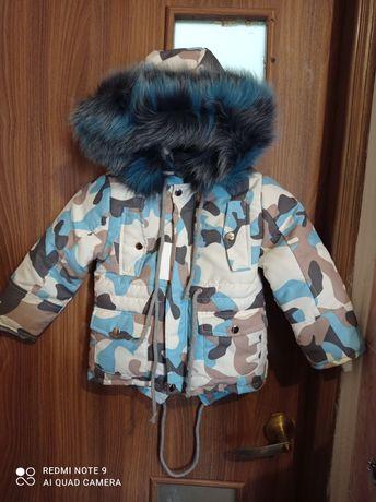 зимняя куртка парка на овчине