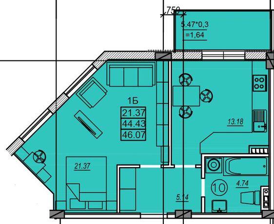 Срочная продажа! 2 комнатная квартира на Сахарова. Оформление 0%.