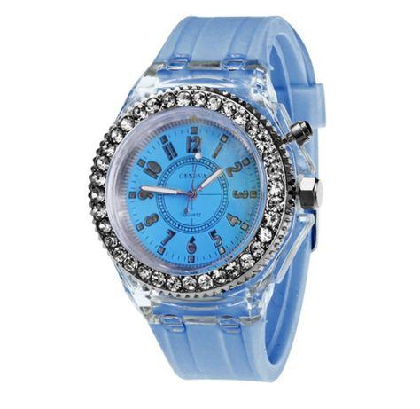 Zegarek świecący niebieski sylikonowy NOWY
