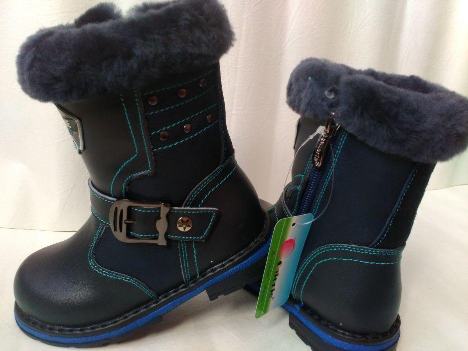 Кожаные зимние сапоги ботинки на мальчика калория 26,27,28,29,30,31 р. Мариуполь - изображение 1
