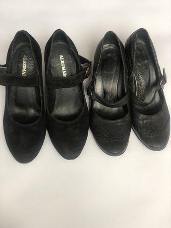 Дешево натуральна шкіра і натуральний замш жіночі туфлі
