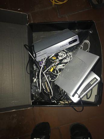Boxes de tv cabo e router