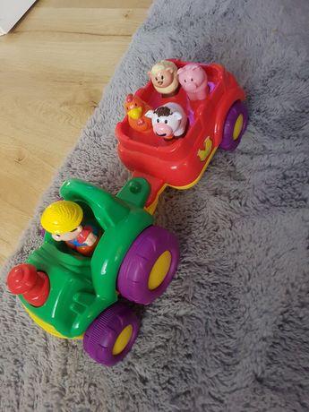 Traktor ze zwierzątkami dumel