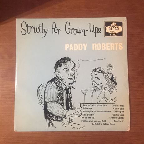 Disco 33 1/3 Paddy Roberts - Strictly for grow ups