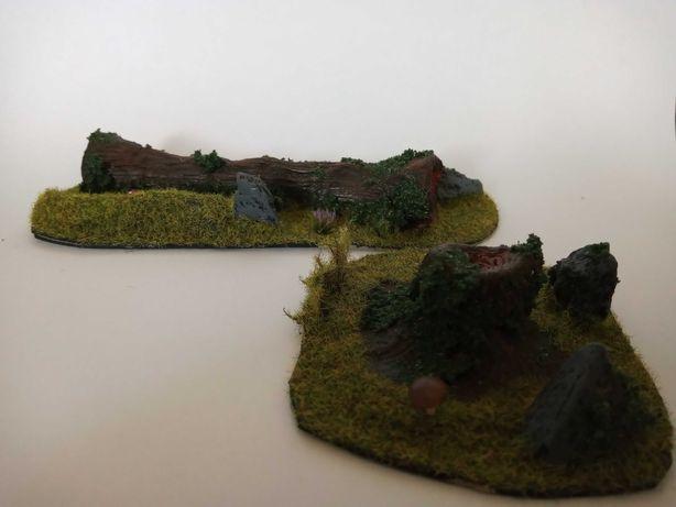 Powalone drzewo makieta wh fantasy teren do gry