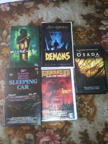 Horrory 5 filmów na kasetach VHS komplet