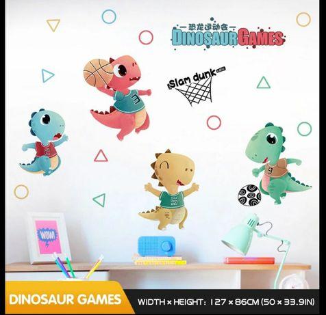 Интерьерные наклейки динозавры