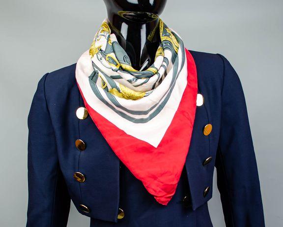 Фирменный шелковый платок Hermes Brides de Gala.Большой яркий платочек