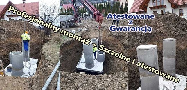 Szambo betonowe 4 Szamba zbiorniki na deszczówkę na 5 6m3 8 10 38