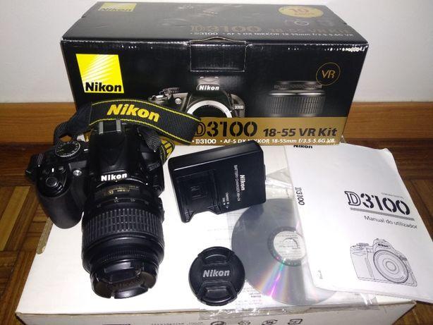 Nikon D3100 + objectiva AF-S DX 18-55mm f/3.5-5.6GII + Garantia