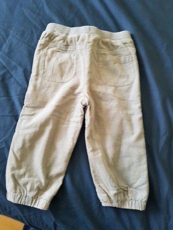 Spodnie sztruksowe ocieplane