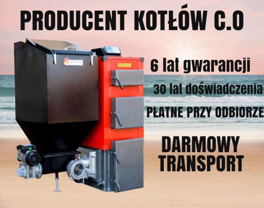 KOCIOŁ do 60 m2 Piec 10 kW z PODAJNIKIEM Kotły na EKOGROSZEK 7 8 9 Władysławowo - image 1