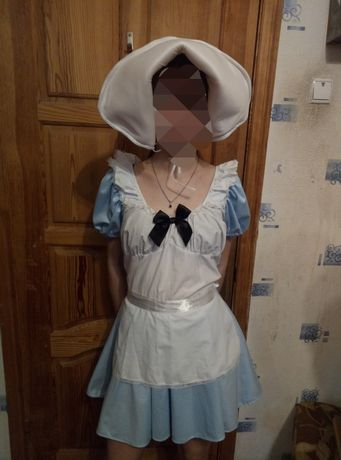 Костюм платье с капором