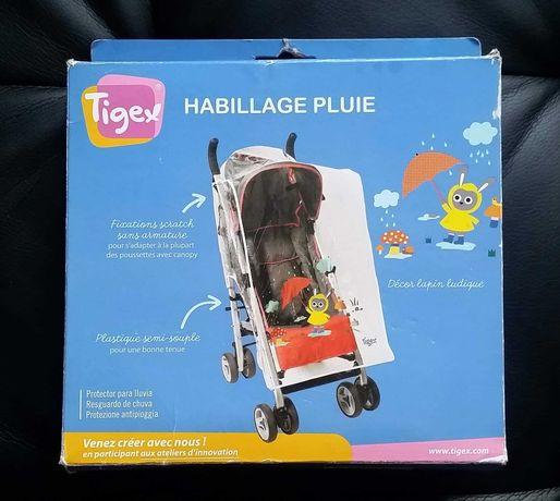 Tigex folia przeciwdeszczowa do wózka na wózek uniwersalna Nowa