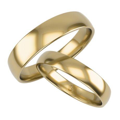 Obrączki złote ślubne półokrągłe, próba 375 5mm K33