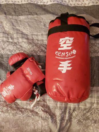 Worek bokserski + rękawice