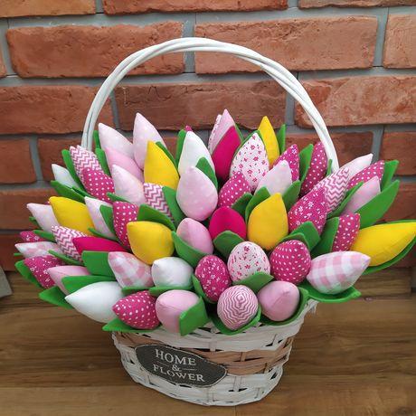 Tulipan 3.5 szt szyty z materiału lub dzianiny brokatowej rękodzieło