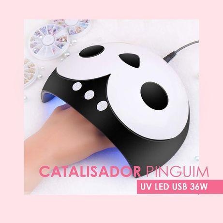 Catalisador Pinguim UV/Led USB 36W Catalizador Unhas de Gel