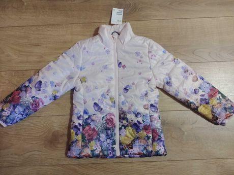 Nowa śliczna H&M kurtka wiosenna przejściowa dla dziewczynki 122