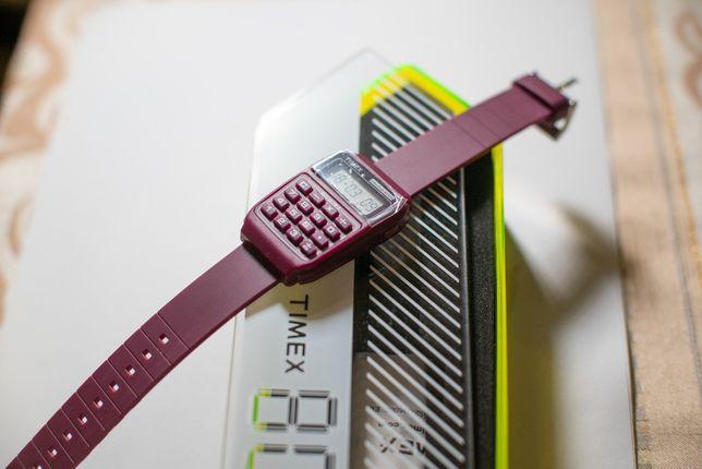 zegarek Timex 80 CALCULATOR kalkulator - bordowy - nowy