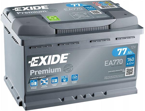 Akumulator EXIDE PREMIUM 77AH 760A 77 AH EA770