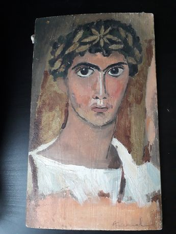 Obraz namalowany na desce