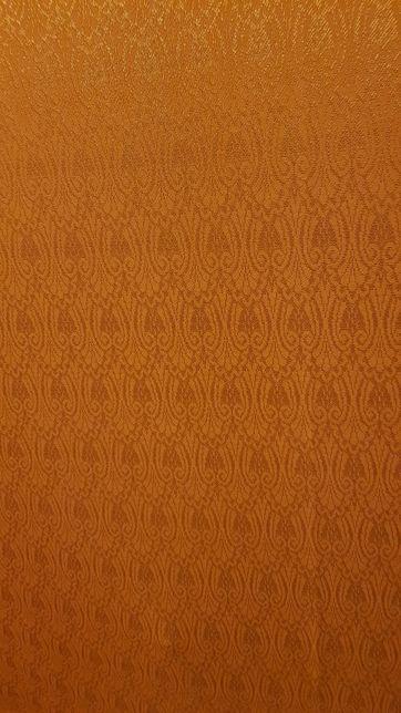 Zasłona wzór połysk 205x170 ruda 2szt