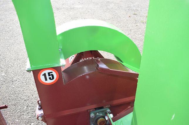 Rębak tarczowy rozdrabniacz 2 kominy gruba tarcza zrąbki łuparka nowa