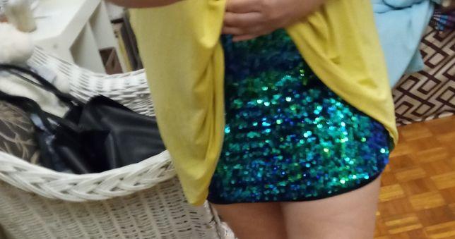 Spódniczka spódnica mini cekiny Vero moda L Warszawa Mokotów