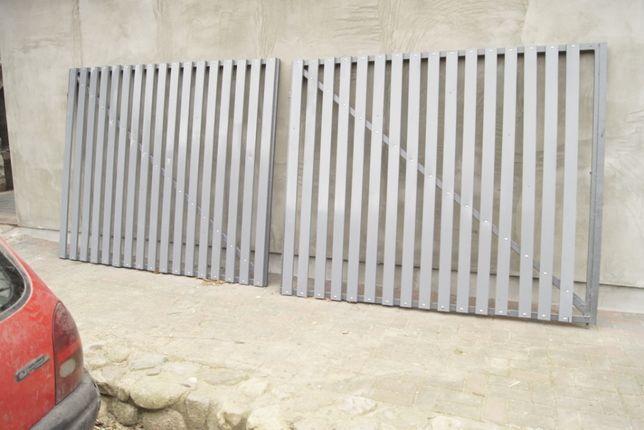 Brama dwuskrzydłowa panele aluminiowe 4 metry szerokości