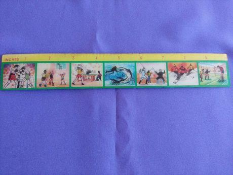 régua de 25 cm com animação dos desportos