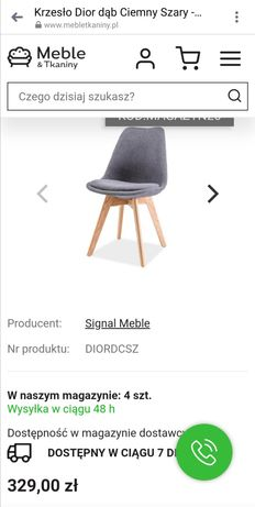 Komplet sześciu drewnianych krzeseł DIOR dąb dębowe