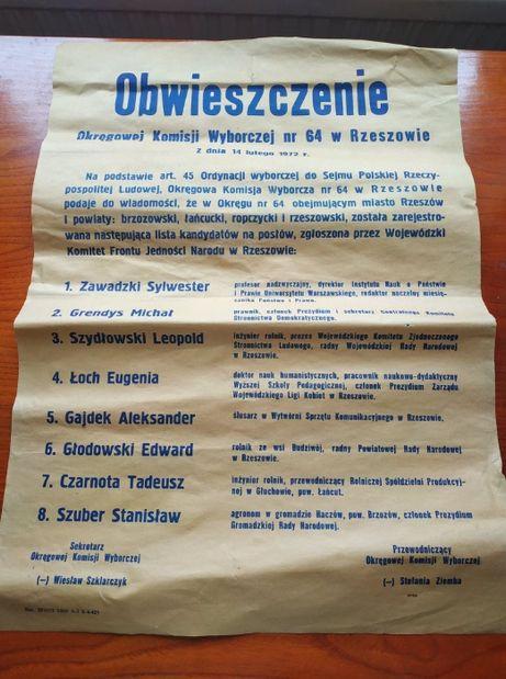 Stare plakaty ozdoba antyk PRL design pamiątka do odnowienia