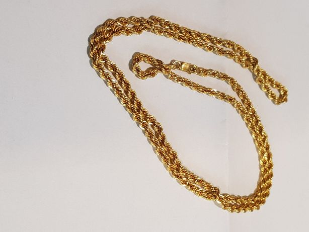 Złoty łańcuszek kordel 750