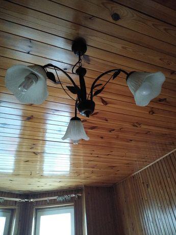 Żyrandol lampa 3 ramienna kielich kwiat do kolekcji