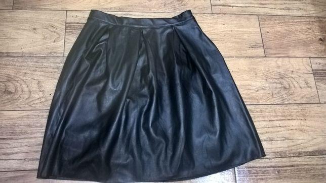Spódnica rozmiar L, spódnica czarna z eko skóry