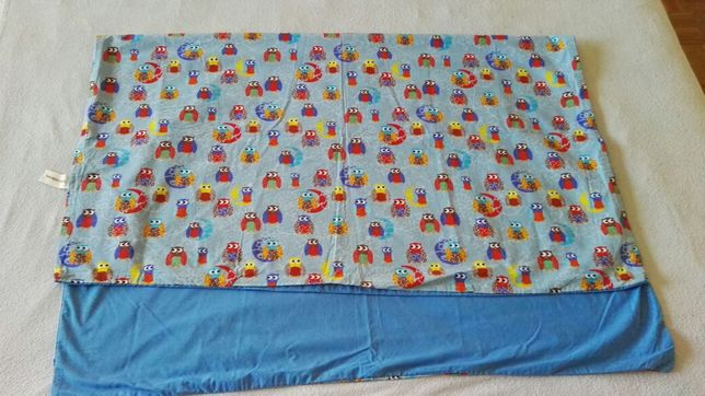 Niebieska pościel w sowy dla dziecka 100/130