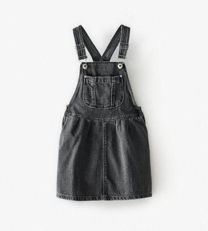 Новый джинсовый комбинезон (комбез, юбка, сарафан) zara