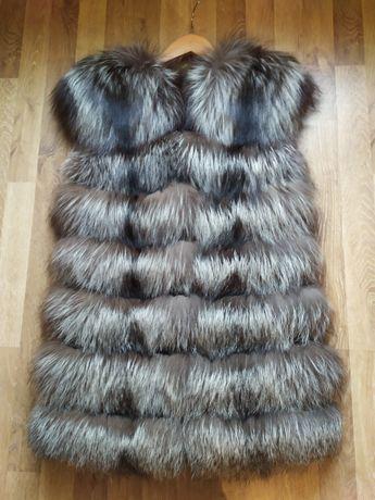 Безрукавка чорнобурка 44 розмір