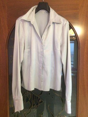 Блузка атласная жемчужно-серый цвет р.44