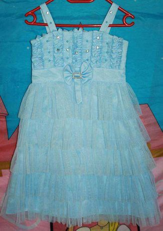 Нарядное платье-сарафан, 7-9лет