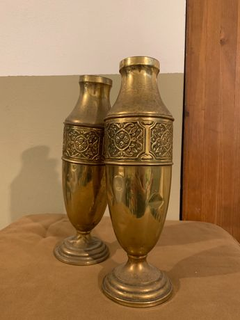 Vaso metálico dourado