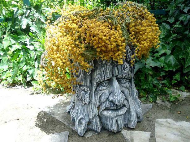 Vaso (tronco-velho) - decoração em pedra