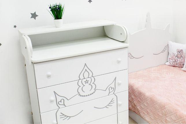 Комод-пеленатор детский Единорог от Ovalbed