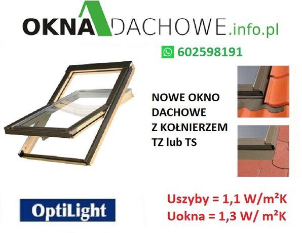 Okno dachowe z kołnierzem OptiLight B 78x140