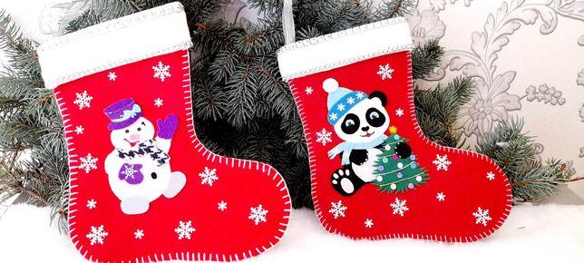 Новогодний Рождественский носок чулок