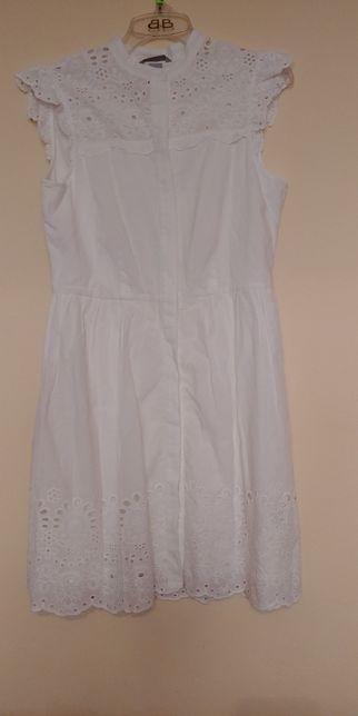 Nowa piękna ażurkowa biała sukienka h&m rozm 38