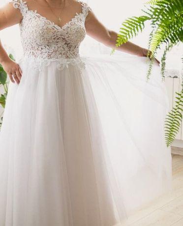 Sprzedam piękna suknię ślubną z salonu Glamour 40/42
